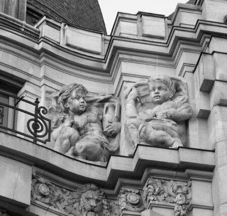 cherubs: stone cherubs on a building