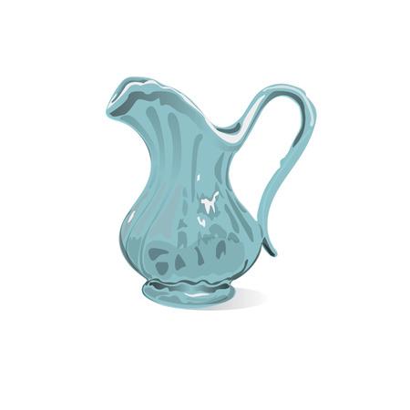 crockery: illustration of porcelain jar Illustration