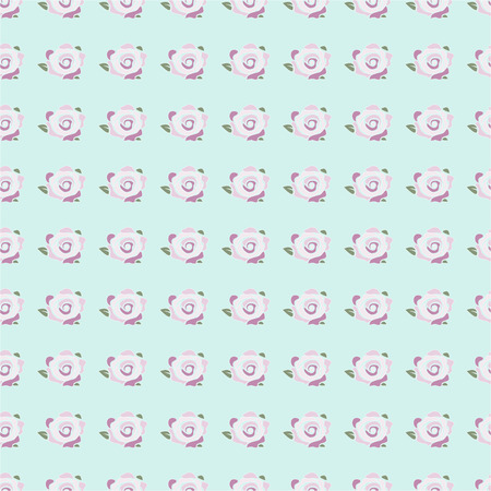 backgroud: seamless pattern with pink rose flowers on the blue backgroud