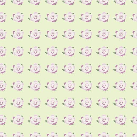 fanfare: seamless pattern with pink rose flowers on the salad color backgroud