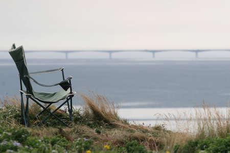 Chair and Confederation Bridge,Canada