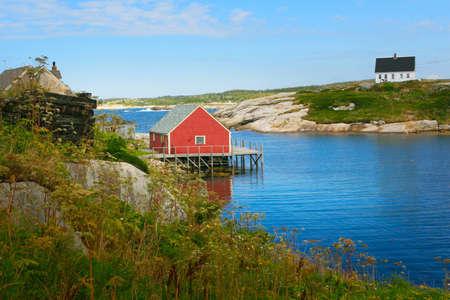 Peggy s cove fishing village,Nova Scotia,Canada Reklamní fotografie