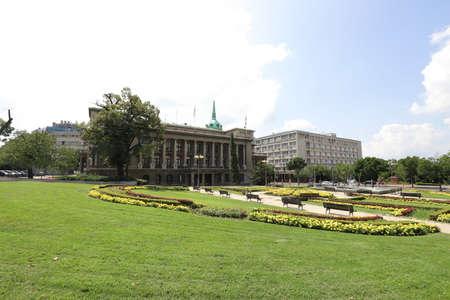 SERBIA, BELGRADE, ANDRICEV VENAC - JULY 30, 2019: Novi dvor is the seat of the President of Serbia Editorial
