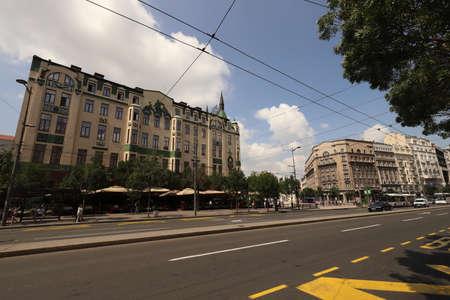 SERBIA, BELGRADE, TERAZIJE - JULY 30, 2019: Terazije with the Hotel Moskva