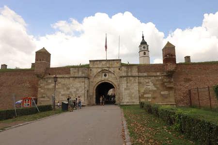 SERBIA, BELGRADE - JULY 30, 2019: Inner Stambol Gate of the Belgrade Fortress