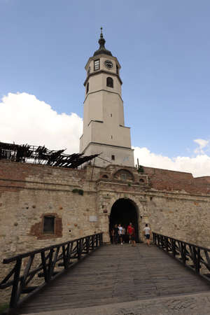 SERBIA, BELGRADE - JULY 30, 2019: Clock Gate of Belgrade Fortress
