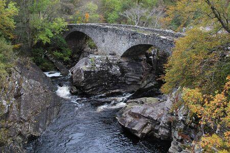 Invermoriston's Thomas Telford bridge near Loch Ness, Scotland