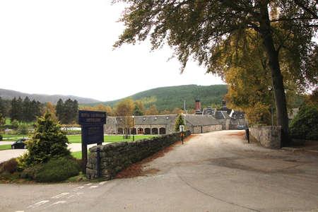 SCOTLAND, ABERDEENSHIRE, CRATHIE, BALLATER - OCTOBER 15, 2014: Building of the Royal Lochnagar Distillery