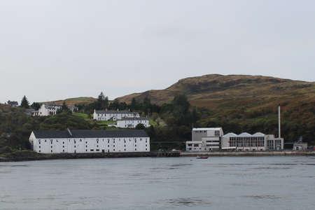 SCOTLAND, ISLE OF ISLAY, PORT ASKAIG - OCTOBER 10, 2015: Building of the Caol Ila Distillery