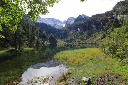 Lake Hüttensee near Schladming in Austria