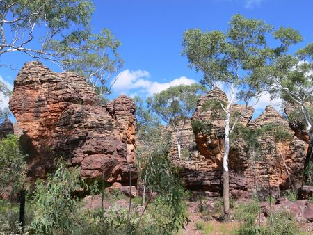 Rock formation in the Caranbirini Conservation Reserve in the Northern Territory of Australia Zdjęcie Seryjne