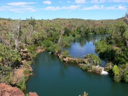 View from the Indarri Falls lookout in the Boodjamulla National Park in Queensland