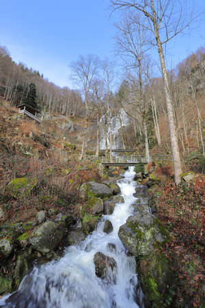 The creek Stübenbächle below the main fall of the Todtnau Waterfall