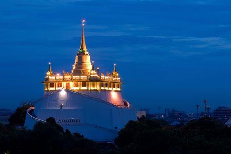 golden mount temple, bangkok, thailand  photo
