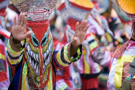 Colorful Thai ghost masks  photo