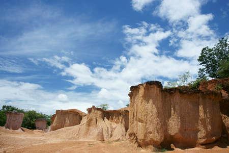 erosion: Erosion in the ground