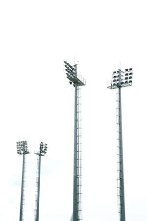 metal pole: Stadium light
