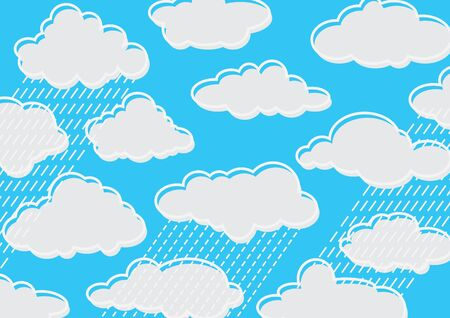 cloudy and rainy Stock Vector - 16307048