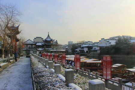 beside: Confucius Temple snow scene