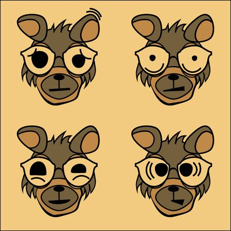The character of the dog with emotions - fear, fright, shyness, surprise, can be used as emoticons. 2D graphics, or as a sticker.