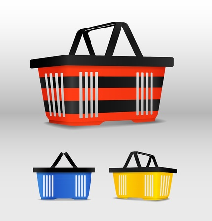 Shopping cart. Different colours Vector