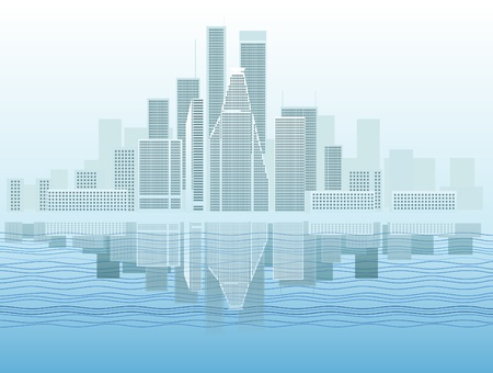 lake district: Modern city district vector illustration  Illustration