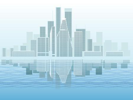 lake district: Modern city district vector illustration  Illustration