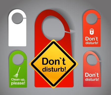not open:  Do not disturb labels