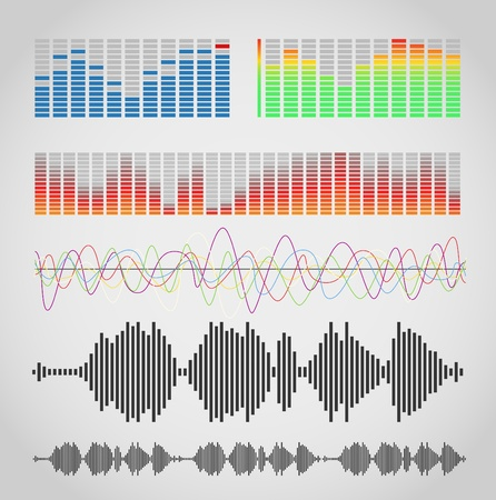 audio wave:  Graphic equalizer types     Illustration