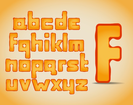 Set of vector letters from fruit  Vector