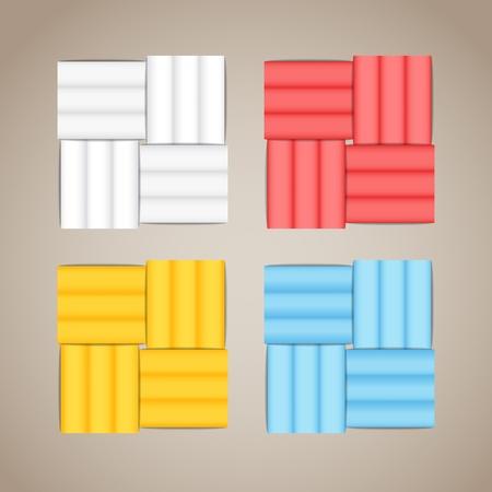 weaving: Color tile elements