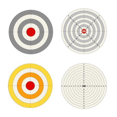 tiro al blanco: Los objetivos establecidos Vectores