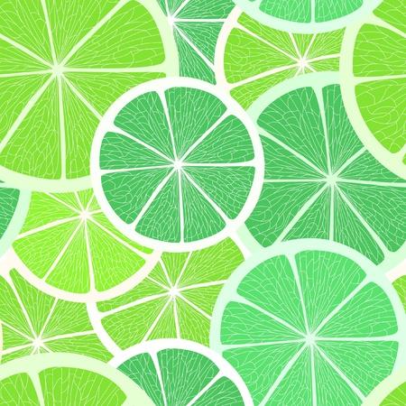 ripened: Citrus seamless background. Lime and lemon
