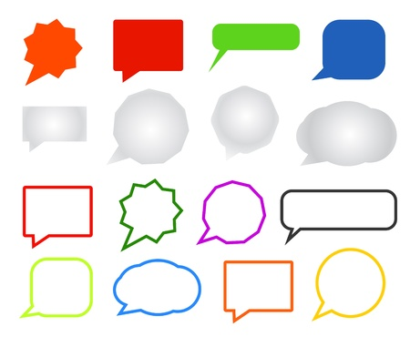 message box: Chatting clouds set  Illustration