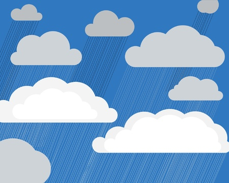 Thunder-storm clouds  Vector