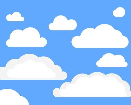 clouds clipart: Vector clouns on sky
