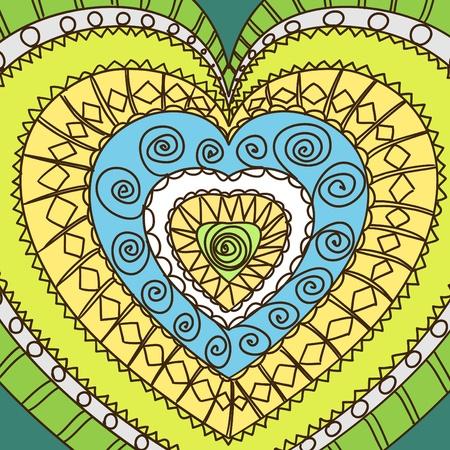 gamma: Ornamento de los corazones. gamma fr�o Vectores
