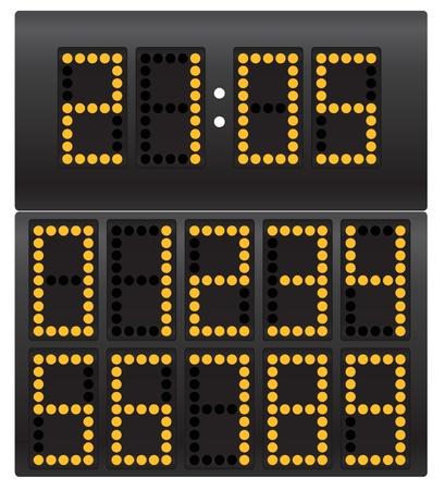 indicator board: Digital clock Illustration