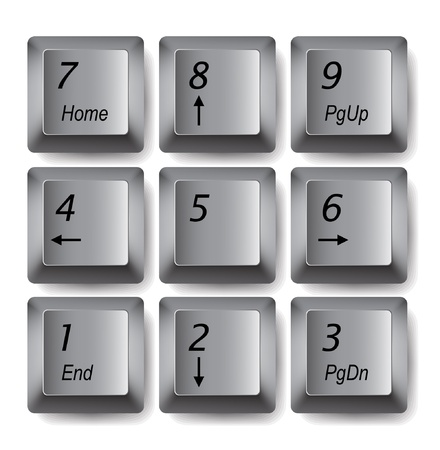keyboard keys: Vector keypad