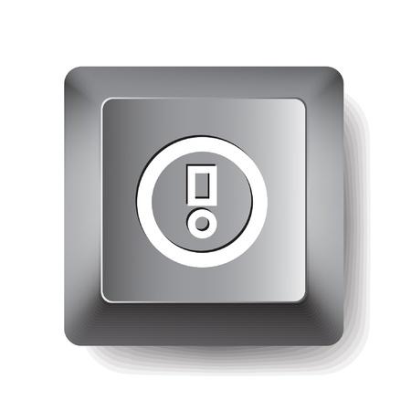 shortcut: Computer key. Notice  Illustration