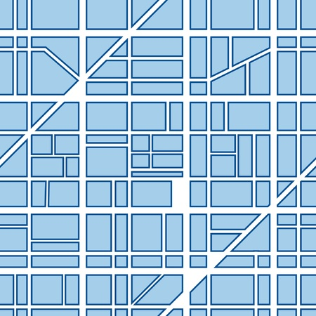 locality: City map abstract seamless background Illustration