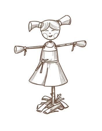 brushwood: Dall illustration Illustration