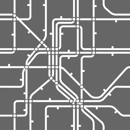 Seamless background of metro scheme Stock Vector - 11227337
