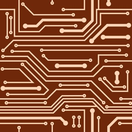 Abstract seamless background of computer board Vector