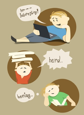 boring: Young readers illustration Illustration