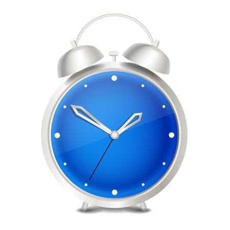 Steel modern vector alarm clock  Vector