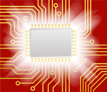 Glowing chip  Vector