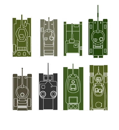 military silhouettes: Tank vector collection