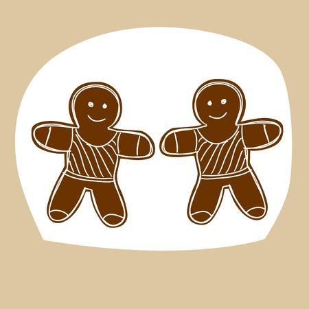 galleta de jengibre: Dibujado a mano signo del zodiaco. Géminis