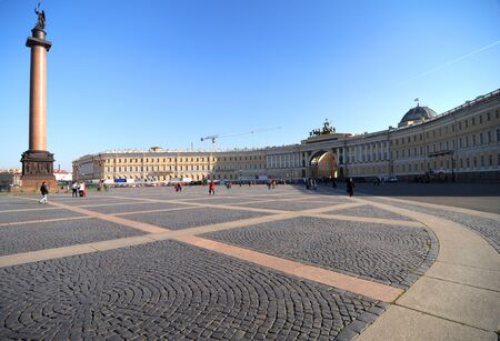 hermitage:  Alexander Column on Palace Square in St. Petersburg